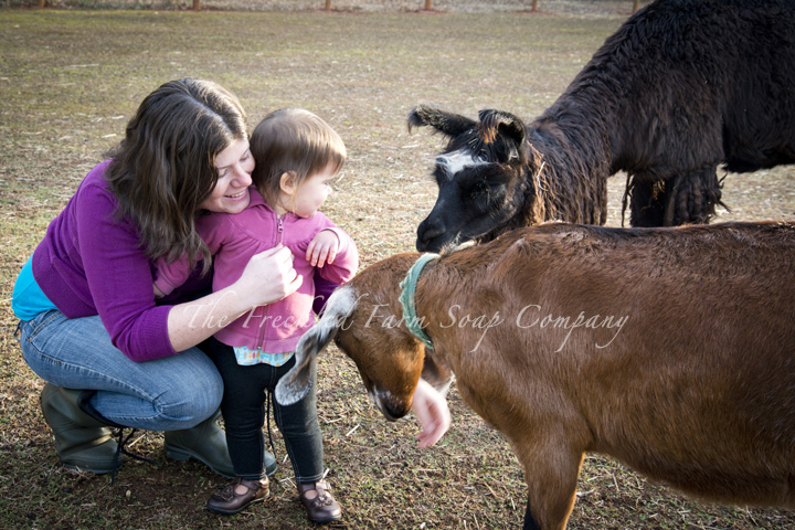 Crystal, Bryce, Blue, and Hillary - The Freckled Farm Soap Company Goat Milk Soap