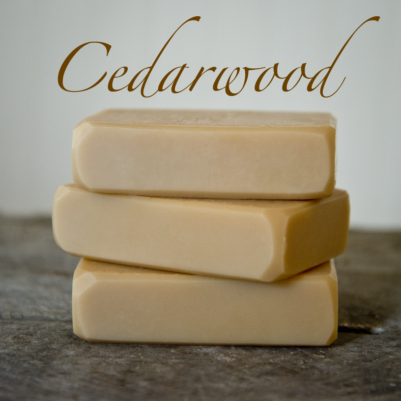 Cedarwood Goat Milk Soap from The Freckled Farm Soap Company