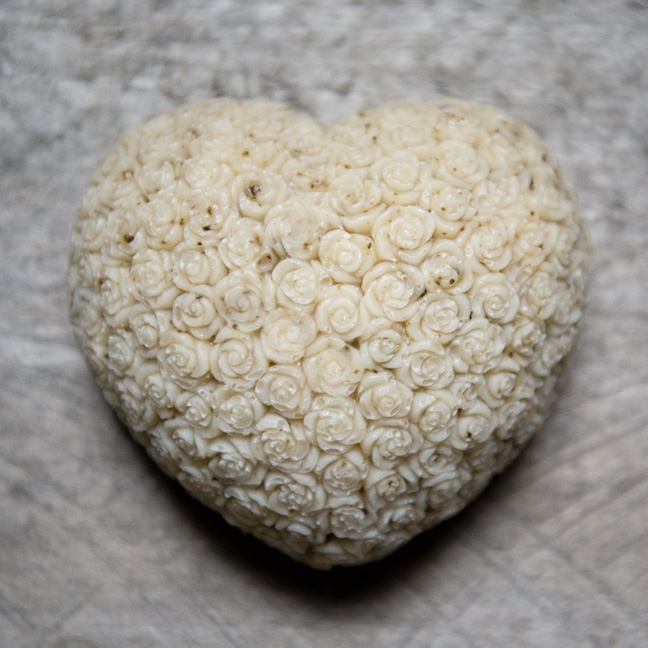 Rose Heart Mold from The Freckled Farm Soap Company