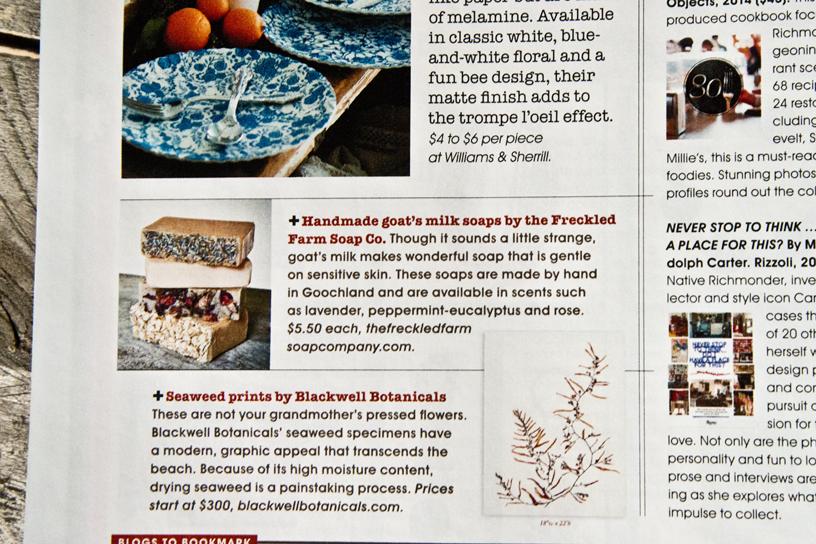 R.Home Magazine - The Freckled Farm Soap Company