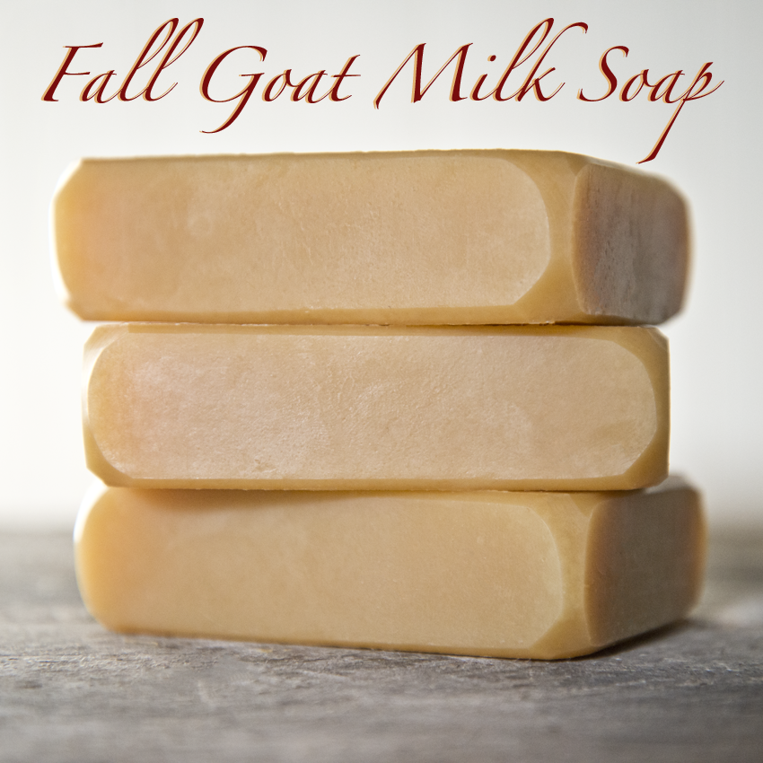 Fall Goat Milk Soap from The Freckled Farm Soap Company