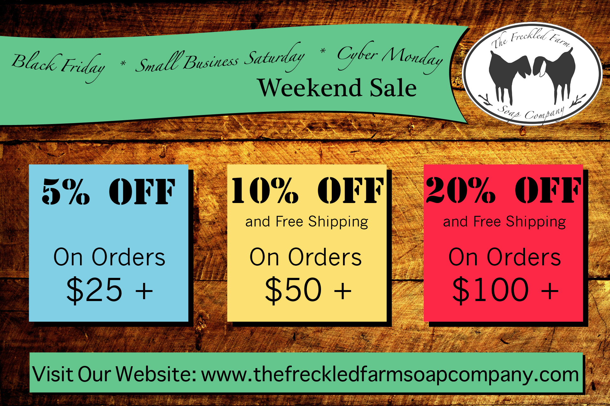 Weekend Sale Goat Milk Soap - The Freckled Farm Soap Company