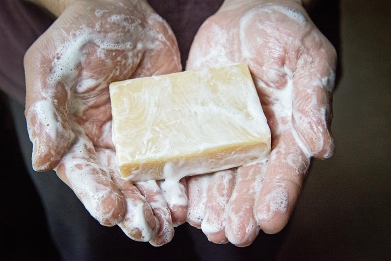 Goat Milk Soap Lather