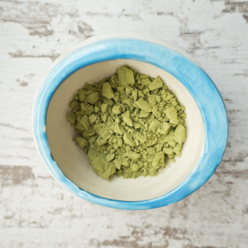 The Green Tea Matcha used in the Lemongrass Green Tea Goat Milk Soap from The Freckled Farm Soap Company
