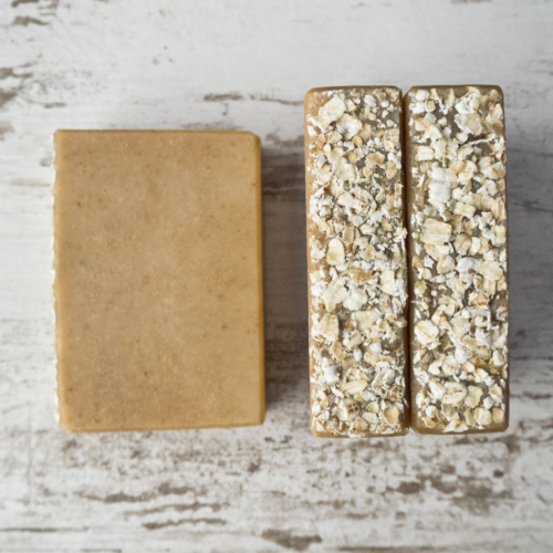 Oatmeal Honey Goat Milk Soap from The Freckled Farm Soap Company