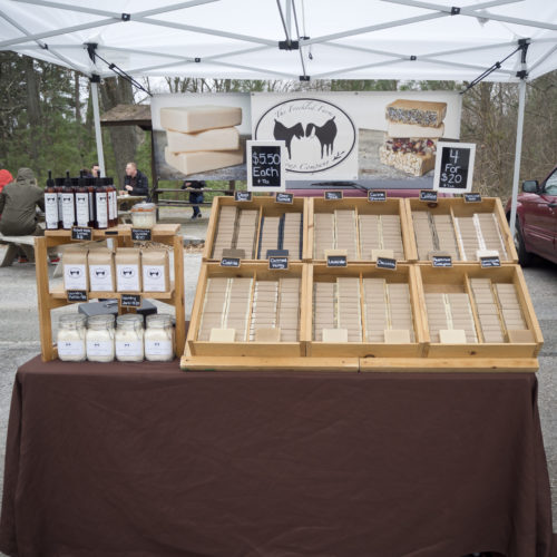The Freckled Farm Soap Company's Farmers Market Booth