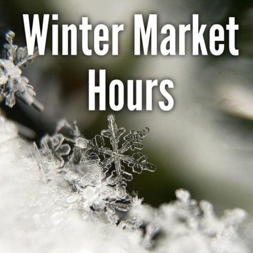 Winter Farmers Market Schedule for The Freckled Farm Soap Company