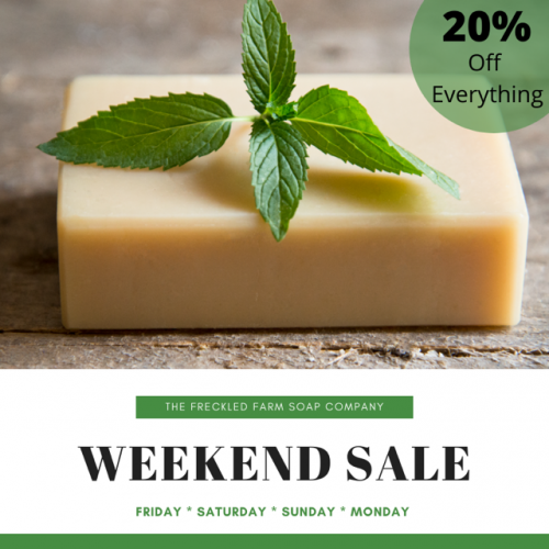 The Freckled Farm Soap Company Sale