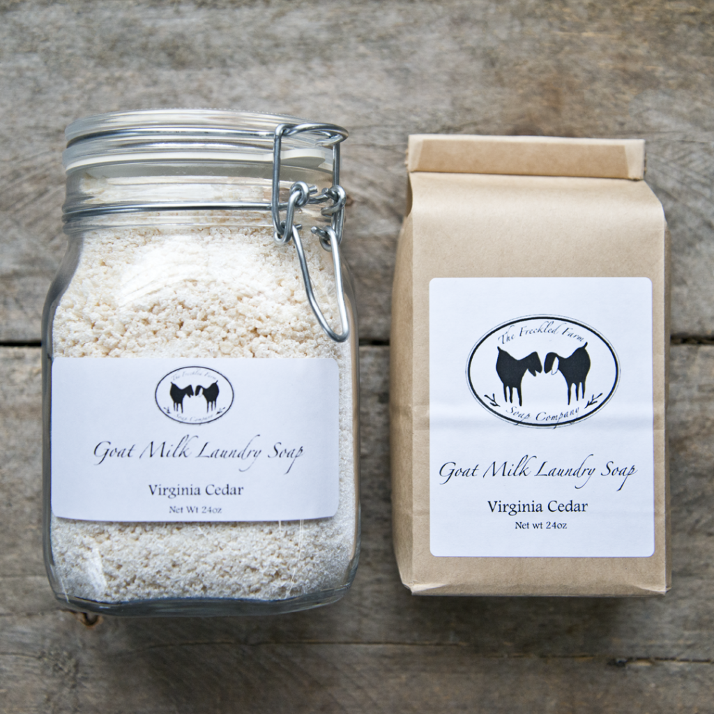 Virginia Cedar Goat Milk Laundry Soap from The Freckled Farm Soap Company.