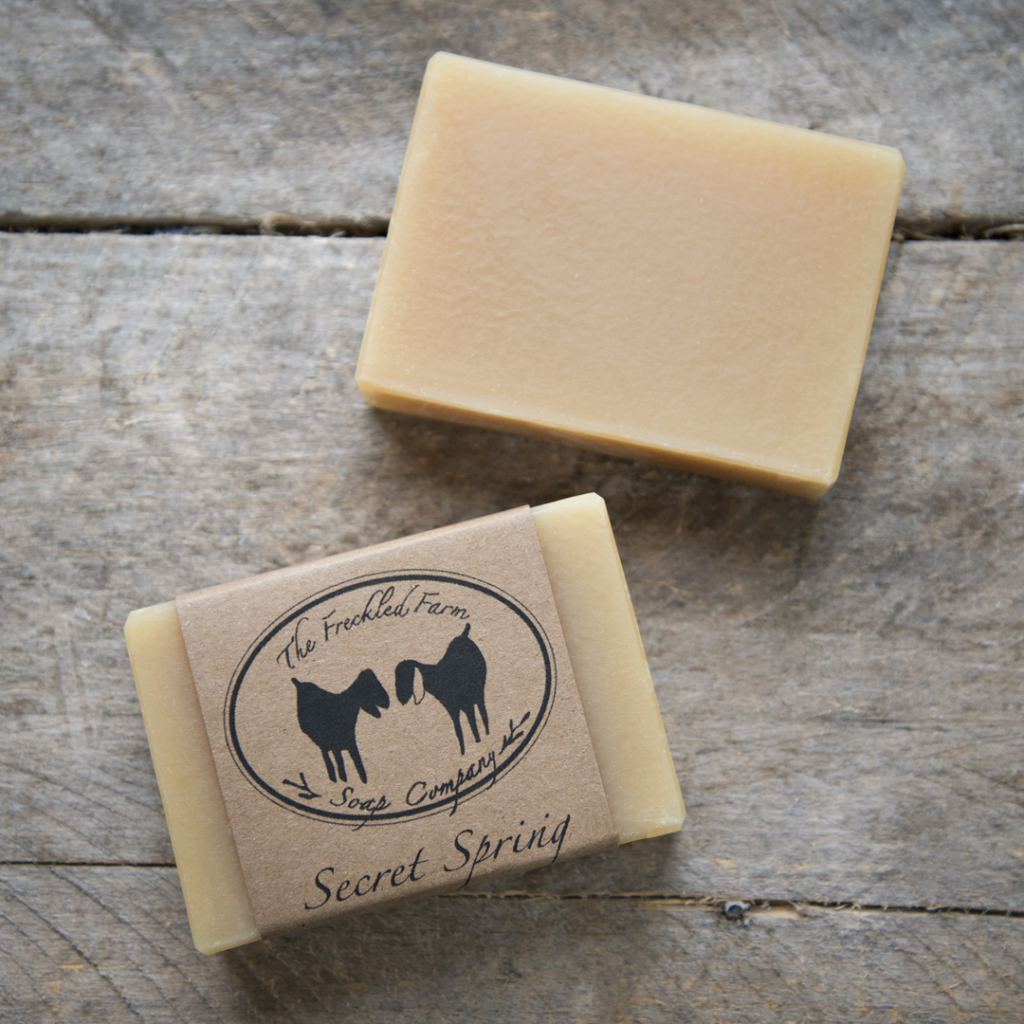 Secret Spring Goat Milk Soap from The Freckled Farm Soap Company